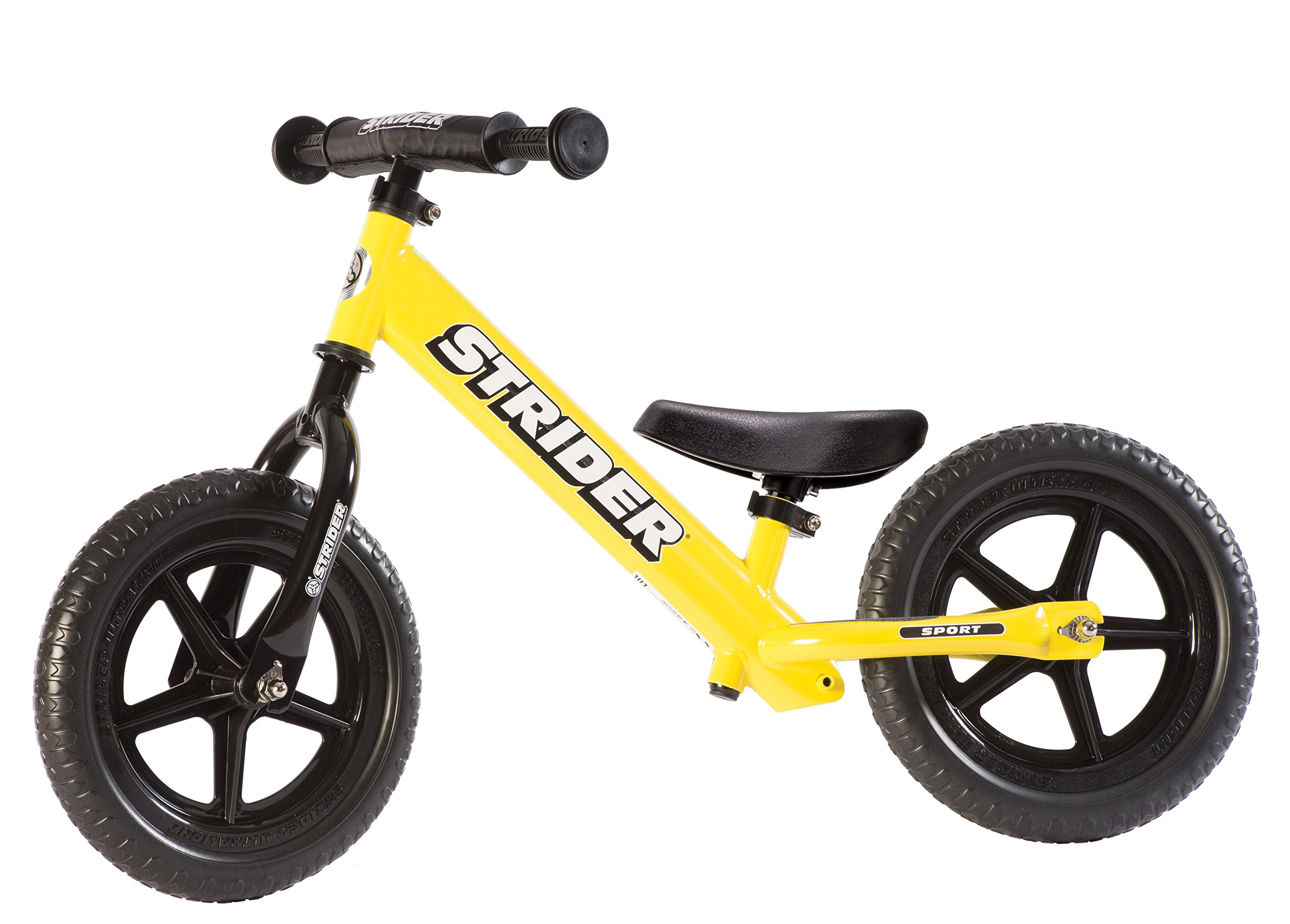 Strider - 12 Sport Balance Bike, Ages 18 Months to 5 Years, Yellow by Strider