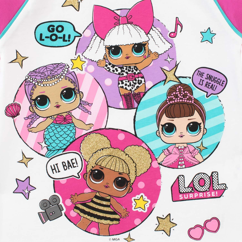 LOL Surprise Pigiama a Maniche Lunghe per Ragazze Dolls Multicolore 9-10 Anni