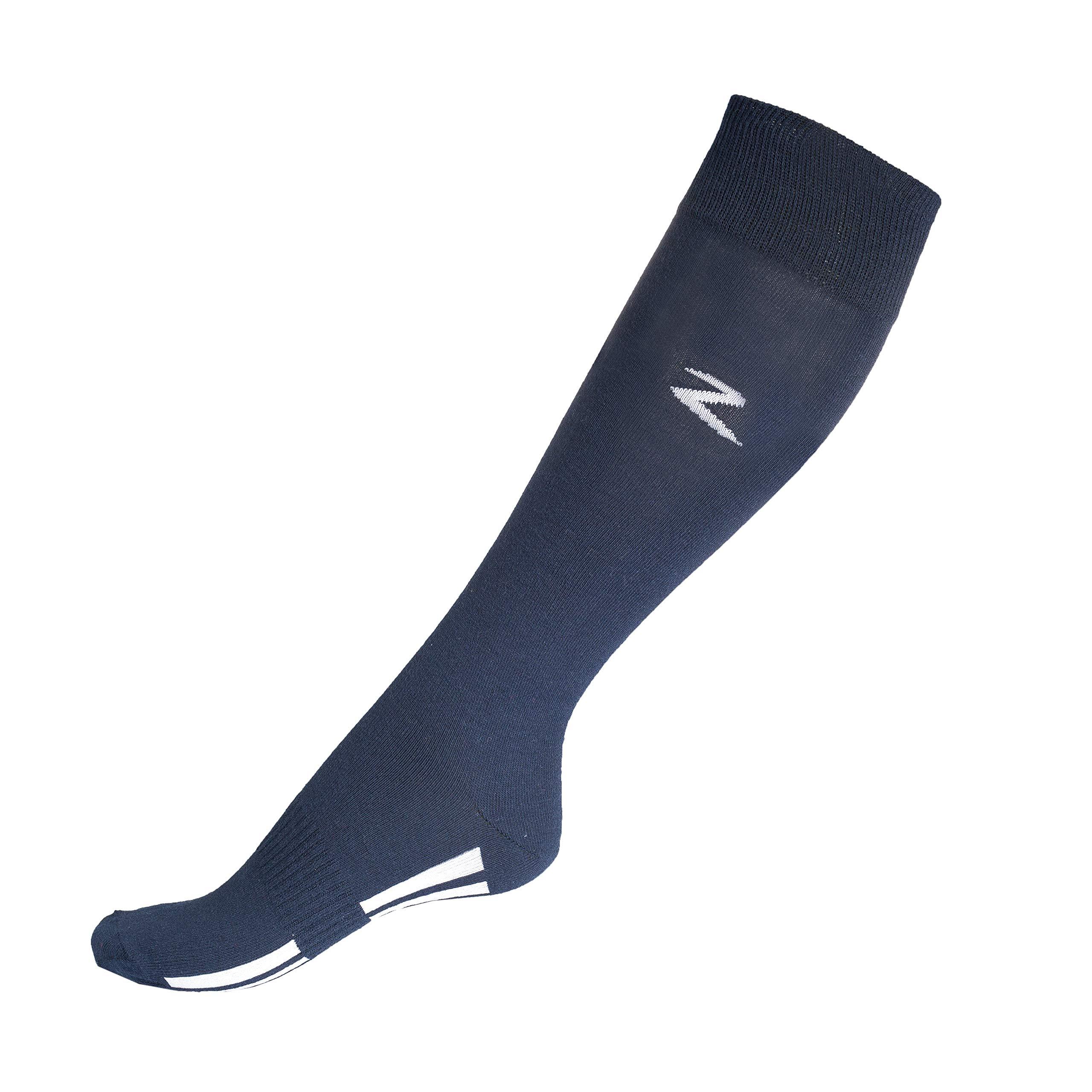 Horze Soft Comfort Coolmax High Knee Socks Peacoat Dark Blue 8.5-10