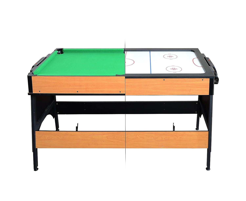Milliard Dual de billar y mesa de Air Hockey, 2 en 1 mesa de juego ...