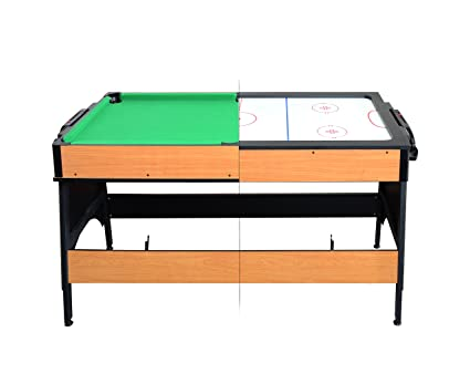 Milliard Dual Pool And Air Hockey Table, 2 In1 Mini Game Table (55in X