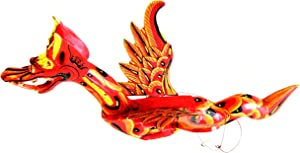 OMA Dragon Mobile Wind Chime Flying Dragon Spirit Guardian for Luck Wooden Dragon Statue Ornament Home Wall Decor Gift