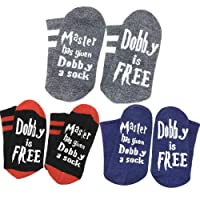Himozoo Novelty Funny Master Has Given Dobby a Sock Dobby is Free Socks for Women Men Gift