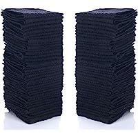 "Simpli-Magic 79217 Black Cotton Washcloths, 12"" x 12"", 24 Pack"