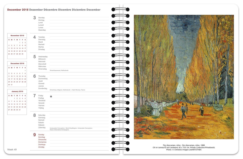 Van Gogh 2018 Buchkalender Deluxe: 4002725951601: Amazon.com ...