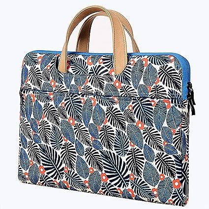 c1527f756eb8 Amazon.com: ABRONDA Floral Pattern Laptop Tote Bag for Women 11.6-12 ...