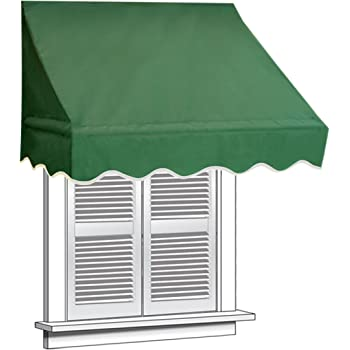 ALEKO 4x2 Green Window Awning Door Canopy 4 Foot Decorator Awning