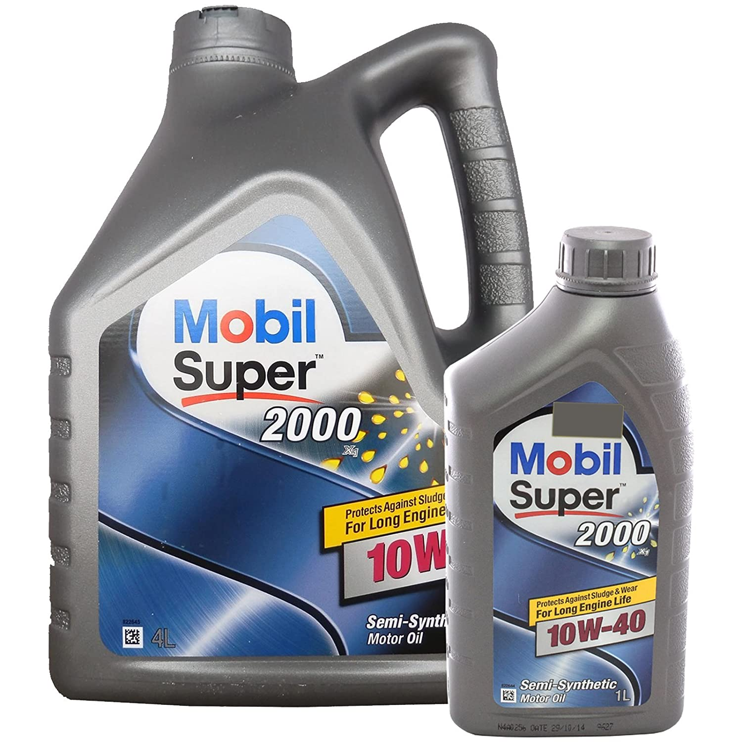 Aceite de Motor Super 2000 Mobil1 10-40-Semillas Synthetic 10W40 5 Litros: Amazon.es: Coche y moto