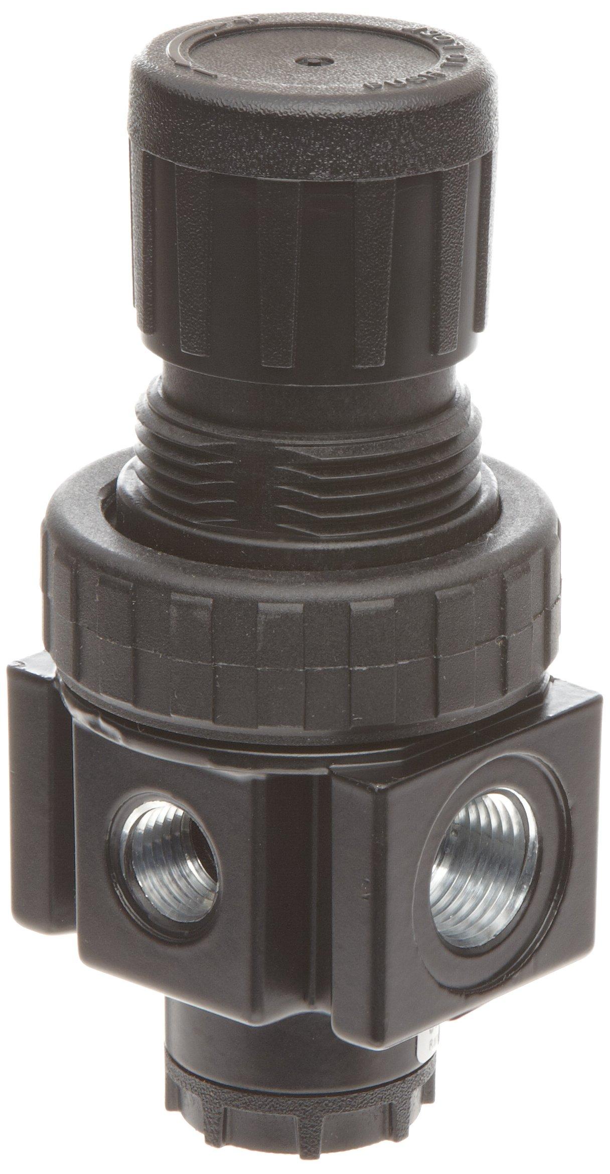 Parker 05R213AD Regulator, Relieving Type, 2-125 psi Pressure Range, No Gauge, 40 scfm, 3/8'' NPT by Parker