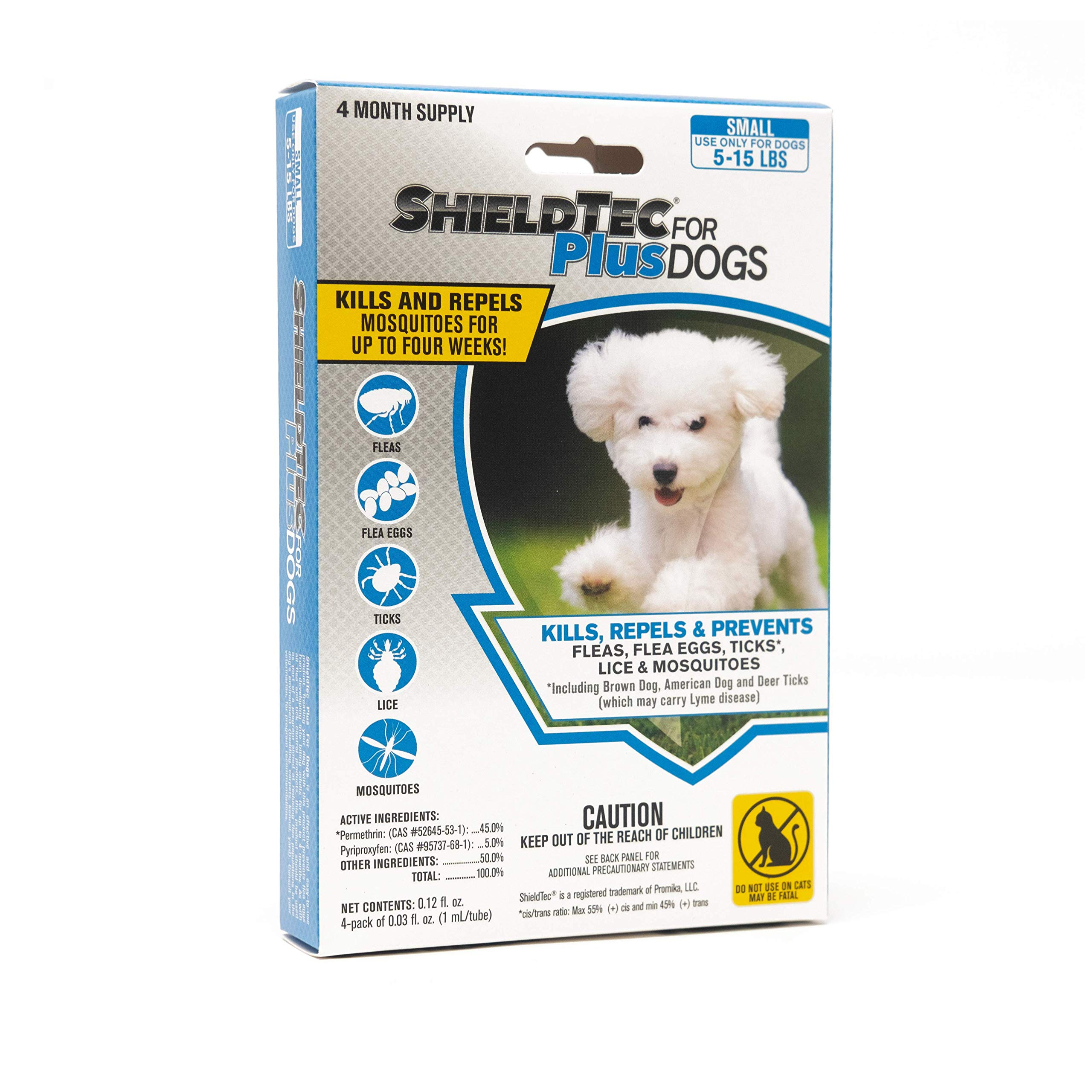 ShieldTec Flea and Tick Prevention for Dogs, Small 5-15 lbs, 8 Months, 8 Doses by ShieldTec (Image #1)