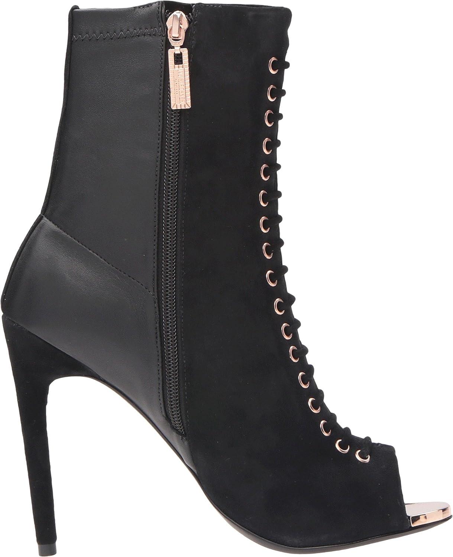 Ivy Kirzhner Candid Black Peep Toe High Heel Designer Suede and leather Bootie