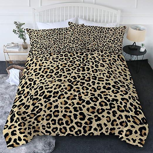 Amazon.com: BlessLiving Leopard Comforter Set Animal Print Cheetah