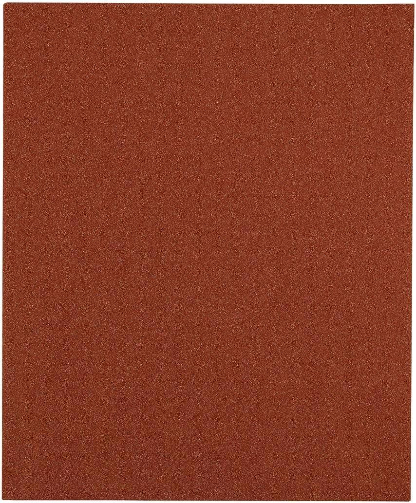 kwb 800404 Lot de 5 feuilles de papier abrasif pour bois couleur et spatule 230 x 280 mm soud/ées Korn K-40