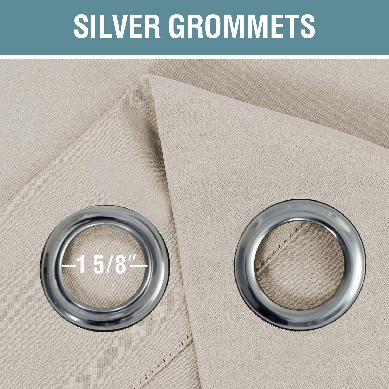 H Dove Gray Textil /Set von 1/Panel T/ülle Top/ versailtex isoliert Erneuert Hohe Dichte Mikrofaser Home Fashion Verdunklungsvorh/änge Fenster Drapes 52W x 63L
