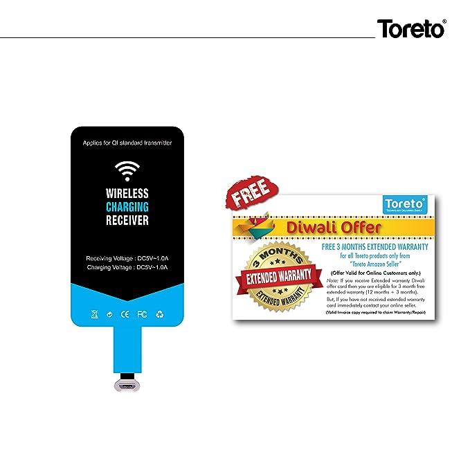 toreto wireless ultra thin charging receiver for qi amazon in rh amazon in