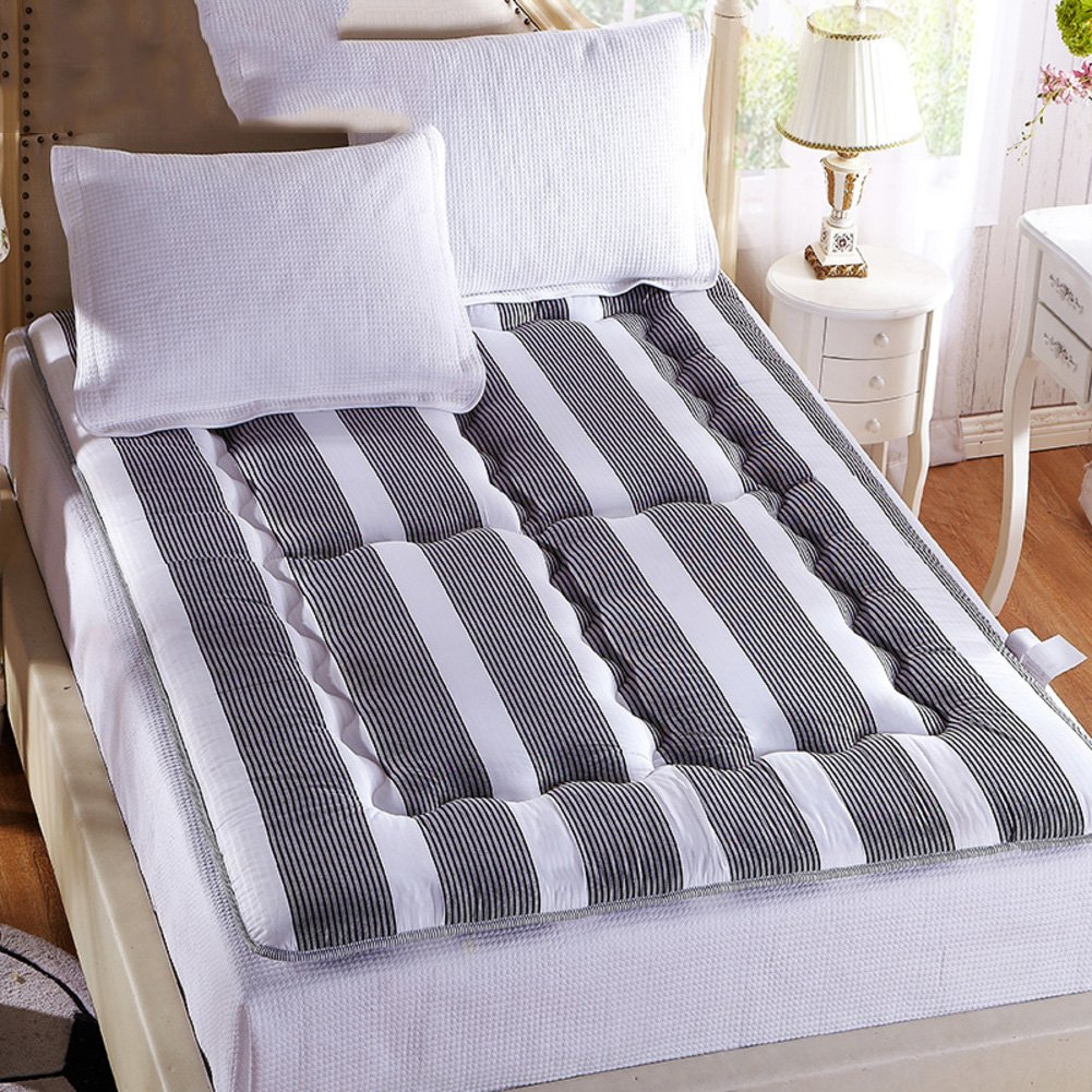 LJ&XJ Thick Tatami Mattress,Foldable Leisure Bed Mattress Dormitory Sponge Tatami mat Non-Slip Floor mat-Grey 90x195cm(35x77inch)