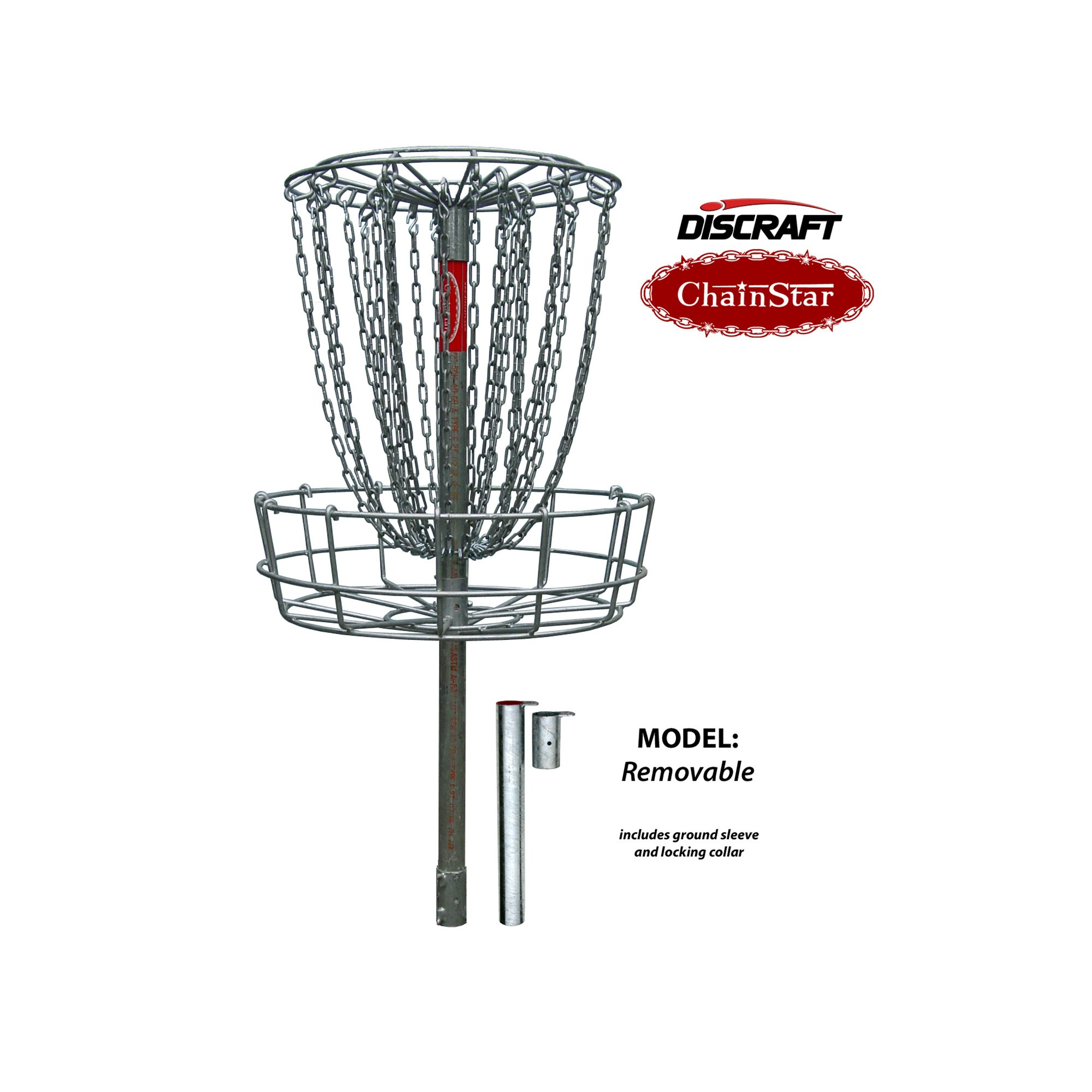 Discraft Removable Chainstar Basket w/ Pole by Discraft