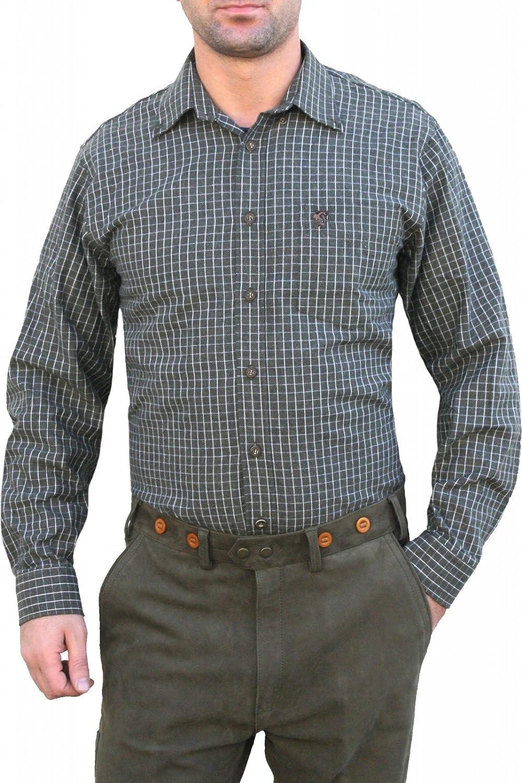 Caza Camisa para caza Camisa Cuadros Color Verde Oscuro/Cuadrícula verde oscuro 46: Amazon.es: Ropa y accesorios