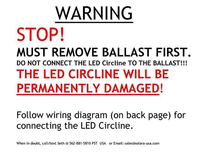 Solarausa Our Brightest Led Circline T9 L 8inch For Rhamazon: Circline Wiring Diagram At Gmaili.net
