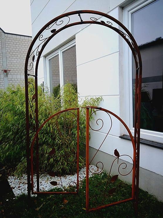 Zen Man 031473 - Pérgola para jardín de Metal Oxidado, Hecha a Mano, 120 x 30 x 220 cm: Amazon.es: Jardín