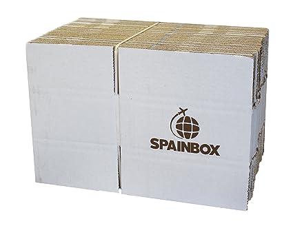 27 x Cajas de Cartón Canal Simple para Envíos, Embalaje, Mudanzas o Guardar Cosas - Color Blanco - Tamaño 20 x 16 x 9 centímetros