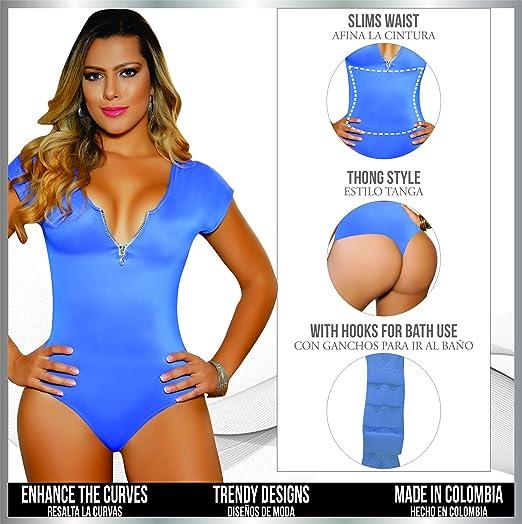 Aranza Blusa Faja Colombiana de Mujer - Bodysuit Body Shaper Blouse Womens Body Suit High Compression Shapewear at Amazon Womens Clothing store: