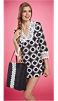 Mud Pie Black and White Honeycomb Bliss Tunic Cover-up
