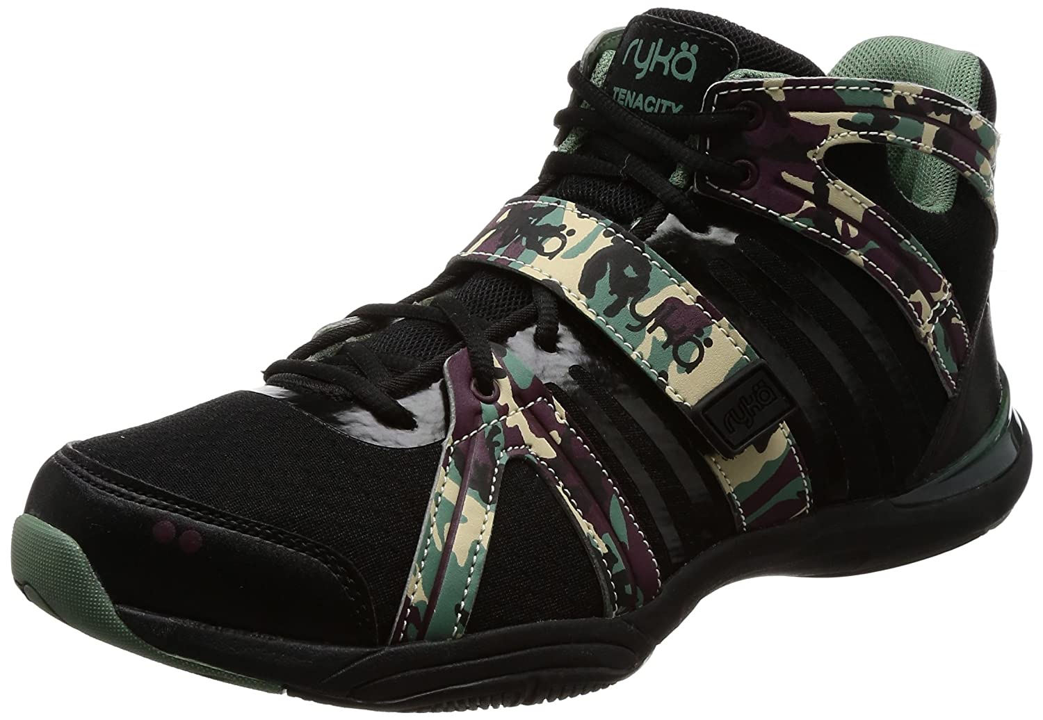 Ryka Women's Tenacity Cross-Trainer Shoe B06XHS1JCL 8 B(M) US|Black/Print
