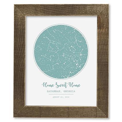 Amazon com: SmoothToast Night Sky Star Map Art, 8