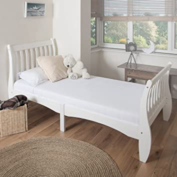 Westwood 3ft Single Size Wooden Bed Frame Solid Pine White Bedroom