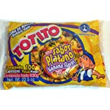 Totito Platano - Banana Goma De Mascar Chicles Flavored Bubble Gum 100 Pcs 22.5oz