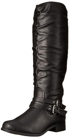 XOXO Women's Marcel Motorcycle Boot, Black, ...