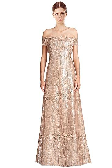 Amazoncom Rene Ruiz Art Deco Cap Sleeved Long Ball Evening Gown
