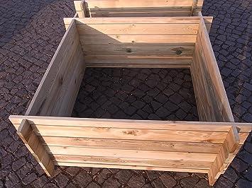 Estable madera Kom Póster compostador Compost Depósito de cultivo 120 x 120 x 53 cm 19