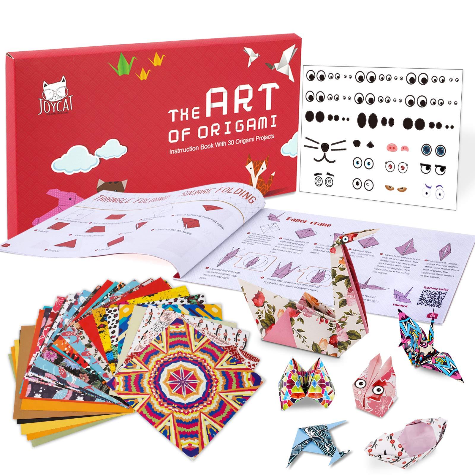 JoyCat Origami Paper Kit90 Sheets Double Sided Origami PaperKaleidoscopeJapanese and Animal Patterns30