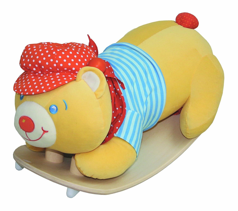 roba Schaukelbär, Schaukeltier 'Bär' mit weicher Stoff-Polsterung, Schaukelsitz für Kleinkinder, Schaukelspielzeug 'ab 18 Monate'