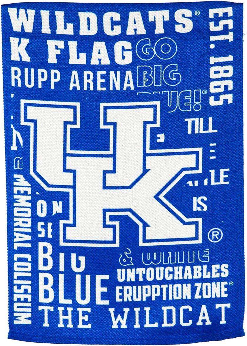 Team Sports America U of Kentucky Fan Rules Garden Flag - 13 x 18 Inches