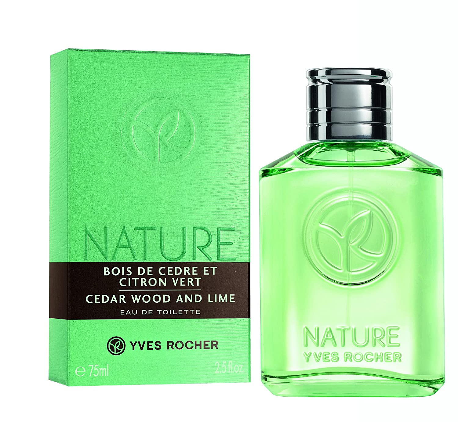 Amazon.com : Yves Rocher Cedar Wood and Lime Eau de Toilette for Men 75  ml./2.5 fl.oz. : Beauty