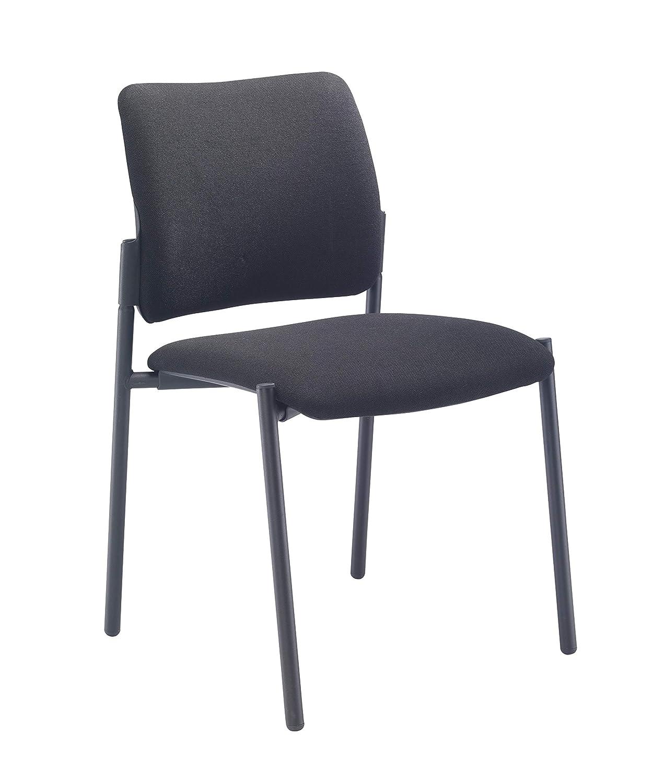 Black Office Hippo Tollini Visitor Arm Chair Chrome Frame 57 x 61.5 x 83.5 cm
