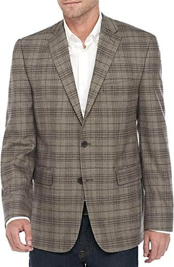 Vince Camuto Mens Modern Fit Solid Knit Sport Coat