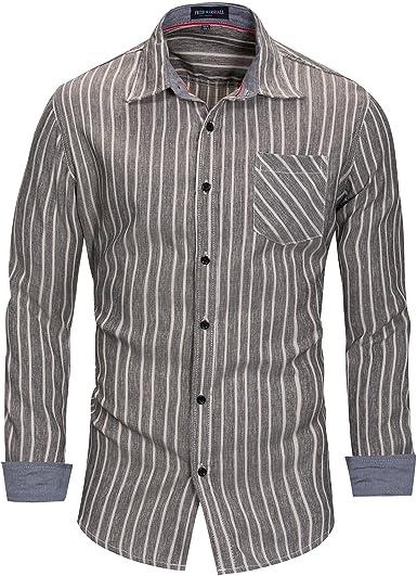 Negocio de Manga Larga con Botones Camisas para Hombres, 100 ...