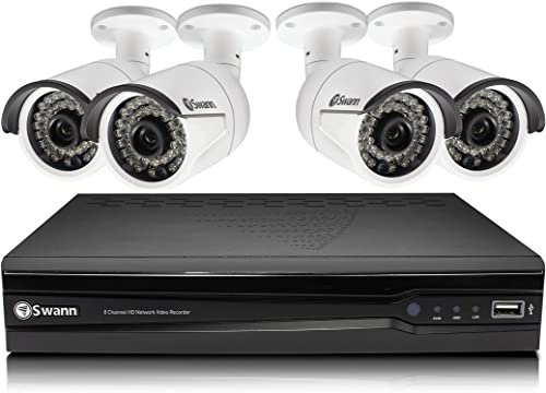 Swann SWNVK-874004-US 8CHANNEL 4MP NVR W 2TB HDD Expandable Surveillance System, Black