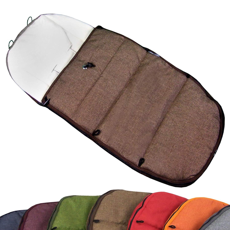 BAMBINIWELT Fußsack Winterfußsack für BUGABOO Kinderwagen, universal, Sitzauflage, mit Fleece (Mod-K) (bordeaux)