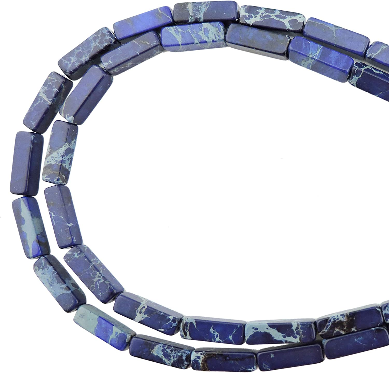 "Natural Sea Sediment Jasper Gemstone Tube Cylinder Spacer Beads Strand 15/"""