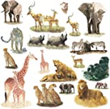 RoomMates Repositionable Childrens Wall Stickers Safari