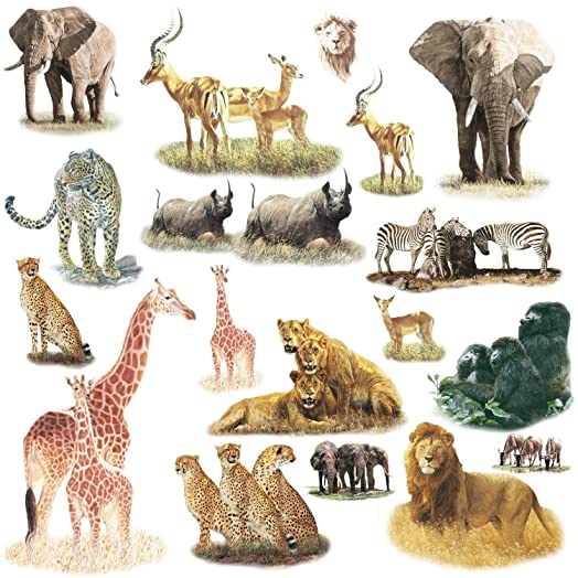 RoomMates Repositionable Childrens Wall Stickers Safari Part 62