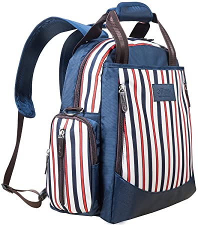 8c36ac68d0c79 Amazon.com : Ollimy Diaper Bag Backpack Designer Organizer Baby Back Pack  Stripe - Baby Bag -Large Diaper Tote Travel with Stroller Straps Changing  Pad for ...