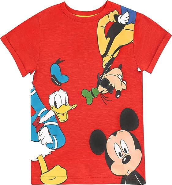 Disney Camiseta para niño Mickey Mouse el Pato Donald y Goofy ...