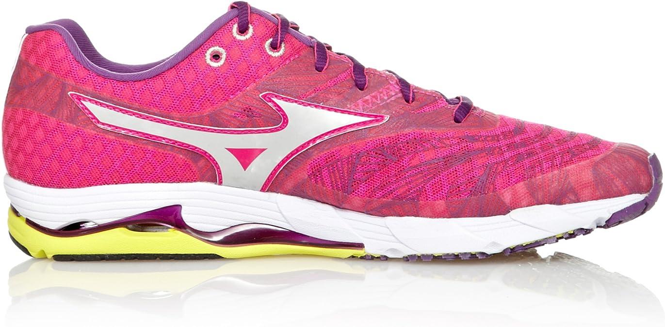 Mizuno Zapatillas Running Wave Sayonara Rosa/Plata/Morado EU 40.5 (UK 7): Amazon.es: Zapatos y complementos