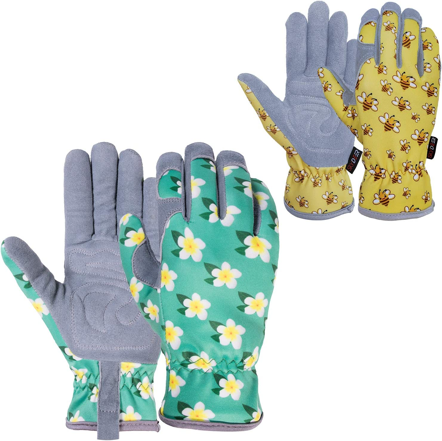 SKYDEER Deerskin Leather Suede Gardening and Work Gloves for Women and Kids (SD6611, SD6624/M)